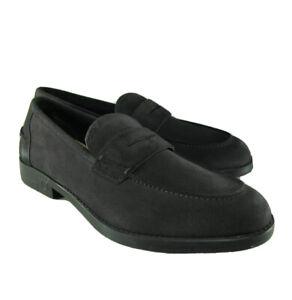 M-10166 New Salvatore Ferragamo Ayden Gray Loafers Size US 11E