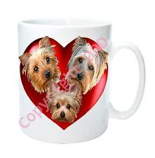 Yorkshire Terrier Gift, Dog Mug Hearts & Yorkies. Valentine Gift, Yorkie Mug
