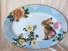 NWOT Williams Sonoma Easter Spring Garden Oval Platter JUST BEAUTIFUL!!!