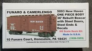 Funaro F&C 5093 36' Boxcar  NEW HAVEN  NH Rebuilt w/ Steel Ends & Doors 1-PIECE