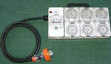 Power board - 32 Amp 3 phase supply with 6x15 Amp outlets RCBO protection