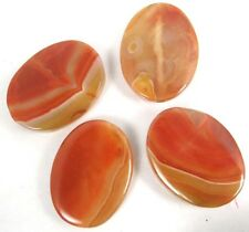 40x30mm Carnelian BOTSWANA Agate Oval Pendant Beads (4 pcs)