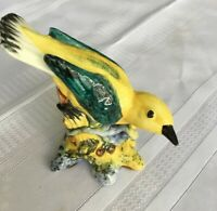 Vintage STANGL Art Pottery Birds, #3447, Yellow Kentucky Warbler Bird Figurine