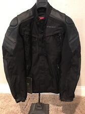 DAINESE Horizon Motorcycle Leather Textile Jacket - Black Sz 50 Euro NEW W/ TAGS