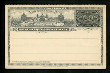 Postal Stationery H&G #11 Guatemala postal card message & reply 1897 Vintage