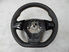 Vauxhall Corsa D Sport OPC Custom steering wheel flat bottom yellow leather