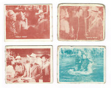 New listing 1950 Topps Hopalong Cassidy lot 4 different cards #s 125, 146, 156 and 158