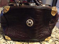 Vintage MetroCity di Braccialini Dr. Bag Purse Dk. Brown Leather Italy 7in., 9in