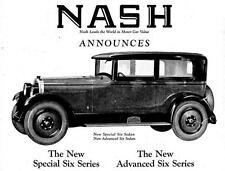 Old Print.  1925 Nash Automobile Advertisement