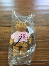 2001 Avon Breast Cancer Minature Bear New In Package