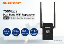 COMFAST 750M Wireless Repeater 2.4G/5GHz Dual Band WiFi Signal Range Extender US