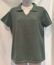 NWT~LINK~SAGE GREEN KNIT POLO SHIRT~LADIES SZ:M ~PERFECT FOR FALL