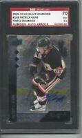 2009-10 UD Black Diamond signed hockey card Patrick Kane Chicago Blackhawks SGC