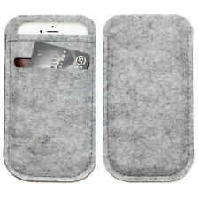 "Light Gray Wallet Bag Purse Pouch Sleeve Case Universal for 5.5"" iPhone 8 Plus"