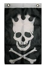 """12x18 12""""x18"""" Jolly Roger Pirate Crown Boat Flag indoor/outdoor"""
