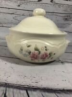 Pfaltzgraff Tea Rose Round Covered Casserole with Lid 2 Quart Made In USA