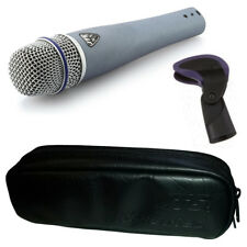 JTS NX-7 Handheld Dynamic Wired Live Vocal + Instrument Microphone + Clip + Case
