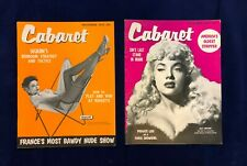Lot of 2 Cabaret Magazines November 1955 Sequin, December 1955 Lilly Christine