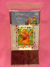 Disney Winnie The Pooh Holiday 12-Ct Printed Poly Gift / Treat Sacks w/Ties New