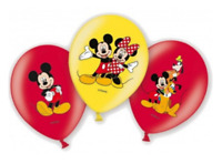 6 x Boys Birthday Party Mickey & Minnie Mouse Themed Latex Balloons Decorations