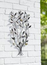 Metal Leaf Wall Art Garden Decoration Beaded Leaves Outdoor or Indoor Ornament