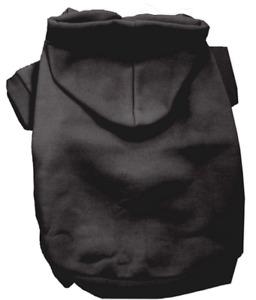 Black Dog Hoodie Hoody - All Sizes Short Sleeve Sweatshirt Ribbed Cuff & Collar