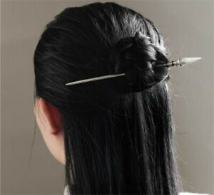 Classical Hair accessories tribal retro pure handmade Miao silver hairpin 1piece