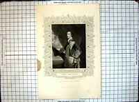 Old Print George Lord Rodney 0B 1792 H Robinson Collection Earl Egremont 18th