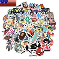 100 Random Music Film Vinyl Skateboard Guitar Travel Case Sticker Decal Cool K