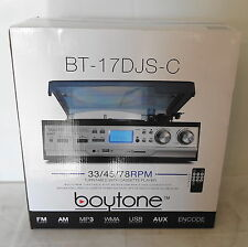 Boytone BT-17DJS-C Full size 3 Speed Turntable Cassette/MP3/WMA Playback /Record