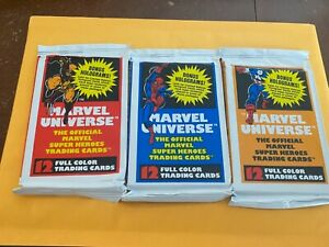 1990 Marvel Universe Series 1 (One Sealed Pack ) Holograms  ? Fresh Box Rare !