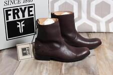 NIB Frye Melissa Button Zip Short Boots 8.5 Dark Brown Bootie