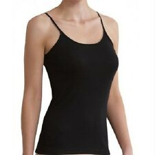 Merino Wool Thermal Underwear Singlet Top %7c Ladies Ivory Black %7c Size S - XL