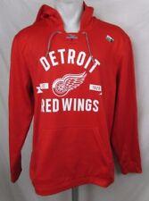 Detroit Red Wings NHL Men's Adidas Pullover Red Hoodie