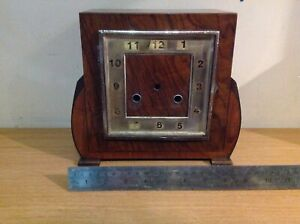 Antique Chiming Mantel Clock Case No Glass Dial for Project or Reuse