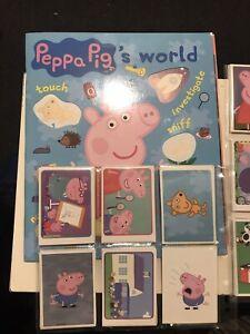 Panini PEPPA PIG'S WORLD Near Full Set Of 180x Loose Stickers & Empty Album NEW