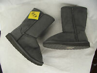 BNWT Little Boys Girls Sz 11 The Boot Australia Long Grey Slipper Boots RRP $69