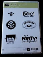 """MONSTER MUNCHIES"" Stampin'UP! NEW~CLEAR/CLING unmounted-2012-Halloween"