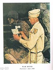 "Norman Rockwell print ""WAR BOND"" military GI Disabled Veterans Administration VA"