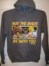 Angry Birds Star Wars Be With You Gray Hoodie Boys Youth Size 14 / 16 Large NWT