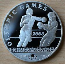 2006 Kazakhstan Large Silver Proof 100 Tenge 2008 Olympic Boxing