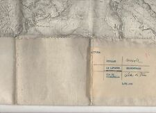 cartina alpina - nivolet - le levante -1:25.000 - in tessuto telato -
