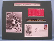 Boston Celtic Great John Havlicek Steals the Ball & Basketball First Day Cover
