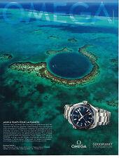 PUBLICITE ADVERTISING  2013   OMEGA  montre SEAMASTER PLANET OCEAN GMT