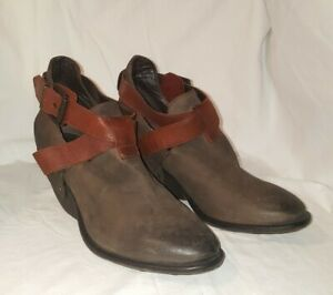 SHERIDAN MIA Womens 39/8.5 Brown leather Ankle Boots Booties