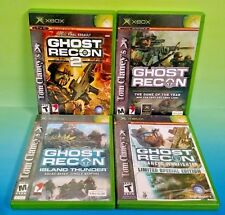 4 Tom Clancy's Ghost Recon Games - XBOX OG - COMPLETE Games Island Thunder Lot