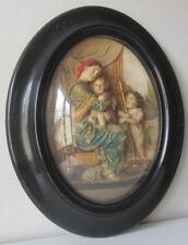 Cornice ovale Napoleone III -scultura in caolino- Madonna della seggiola