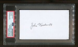John Woodruff Signed Index Card 3x5 Autographed 1936 Olympics Gold PSA/DNA *8302