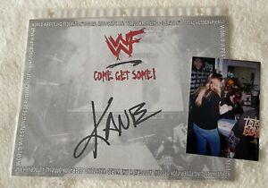 WWE WWF Kane Signed 8x10 Photo Authentic Autograph w/  Photo Proof of Signature