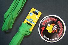 "Green Thin Flat 36"" x (3/8""-5/8"") JN Shoelaces Shoe Strings Piranha Records"